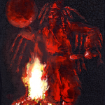 Center Earth: Fire Dancer -- Transformative and transcendent fire dancer musically moves ecstatically through twilight.