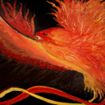 Center Spirit: Phoenix -- Featured in Indian, Persian, Egyptian, Greek, Russian, Chinese, Japanese, and Catholic legends self-ignites after living 500 to 1000 years.