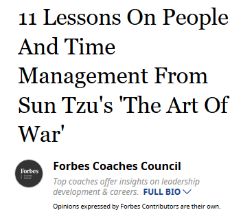 11 Lessons on People and Time Management From Sun Tzu's Art of War