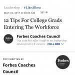 Forbes: 12 Tips for College Grads
